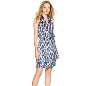 NWT Sleeveless Patterned Wrap Dress